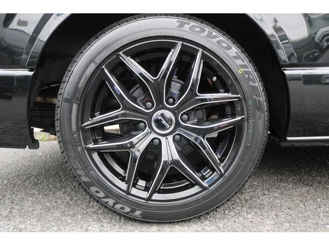 GL ロング 新車ハイエースワゴンGLブラックスシーリーズアルパインフルセグ11インチSDナビHDMIソケットミラーリングDELF01アルミホイールGOODYEARナスカータイヤ18インチオリジナルシートカバー(21枚目)