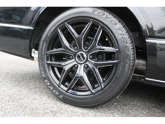 GL ロング 新車ハイエースワゴンGLブラックスシーリーズアルパインフルセグ11インチSDナビHDMIソケットミラーリングDELF01アルミホイールGOODYEARナスカータイヤ18インチオリジナルシートカバー(22枚目)