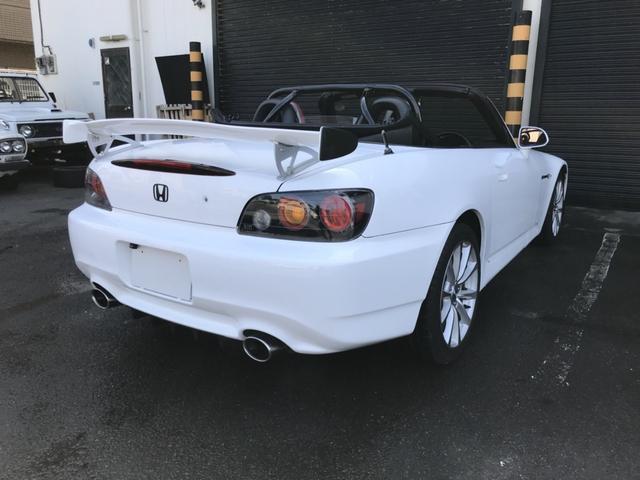 ホンダ S2000 後期型 ベースグレード 赤革 GTウィング ナビ ETC付き