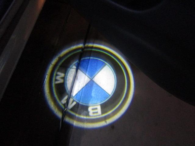 ドアを開けるとカーテシランプが光り、足元をお洒落なBMWマークが照らします!!