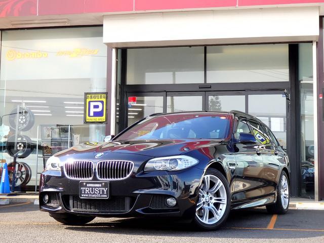BMW BMW 528iツーリング MスポーツPKG 一年保証 黒本革 TV