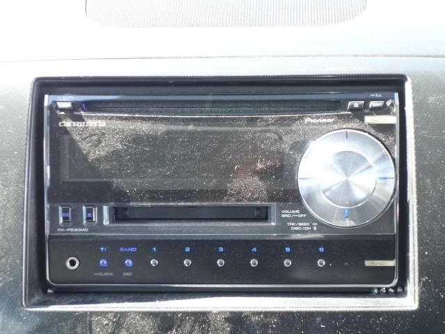 XT 社外CDデッキ CD・MD再生 AUX接続 スマートキー パドルシフト オートエアコン オートライト サイドバイザー Wエアバッグ ABS HIDヘッドライト 純正15インチアルミ(11枚目)
