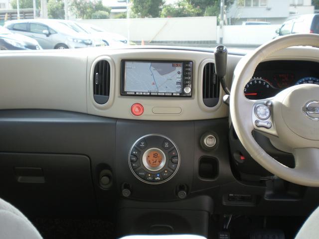 日産 キューブ 15X Vセレクション ワンオーナー HDDナビフルセグTV