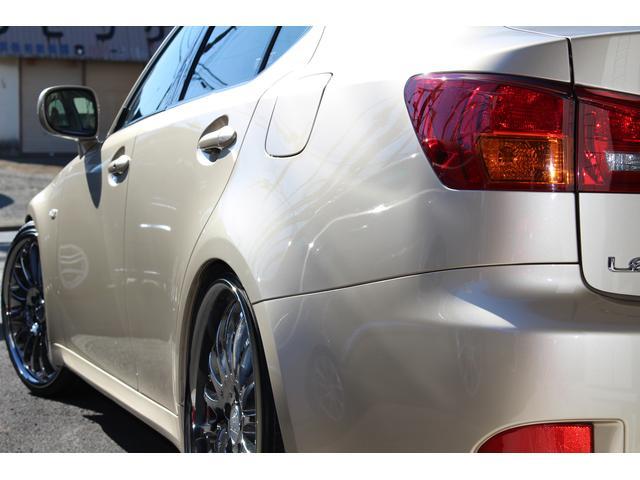 レクサス IS バージョンL 本革 ベージュ内装 車高調 20カールソン