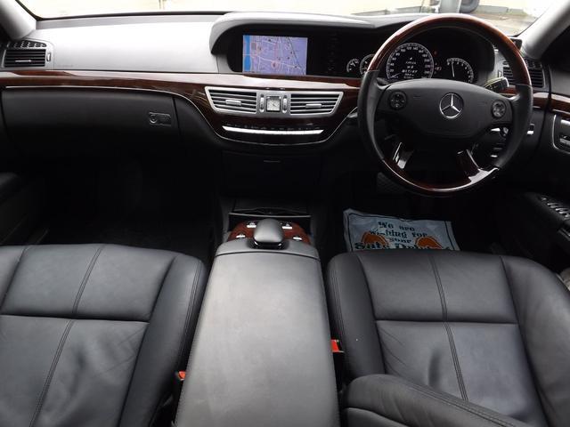 メルセデス・ベンツ M・ベンツ S550ロング サンルーフ 黒革シート 純正HDDナビ