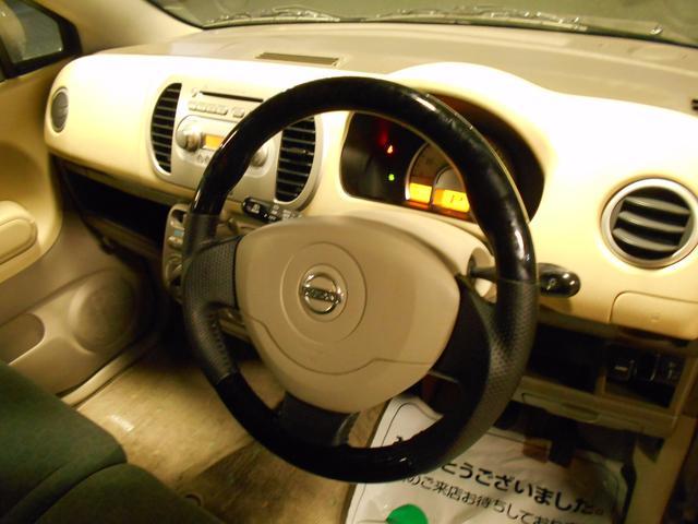 日産 モコ S タイミングチェーン ベンチシート ウッドコンビステア