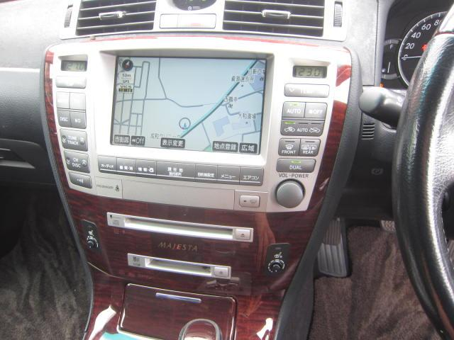 トヨタ クラウンマジェスタ Cタイプ後期型黒本革シートHDD  マルチバックモニター