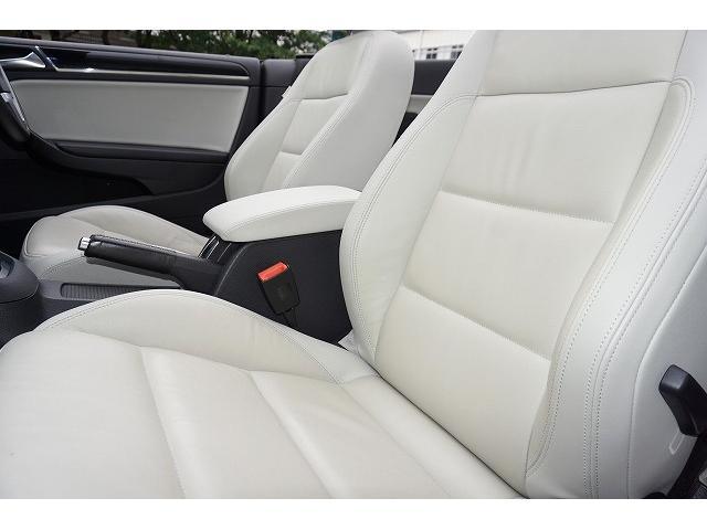 フォルクスワーゲン VW ゴルフカブリオレ 白革 車高調 LED付Hライト スマートトップ 1オーナ禁煙