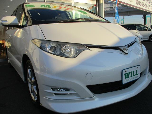 トヨタ エスティマ アエラス ワンオーナー 禁煙車 両側電動 純正ナビ 1年保証