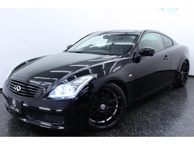 日産 スカイライン 370GTタイプP黒革HDDナビ W連動ファイバー新品車高調