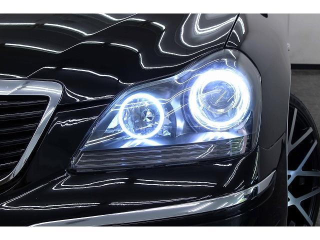 トヨタ クラウンマジェスタ Cタイプ黒革 Newデイライト付フルエアロ 4連イカリング