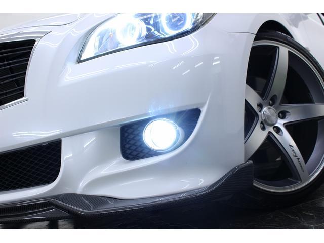 日産 フーガ 370GTタイプS黒革 RSR車高調 カーボンスポイラー
