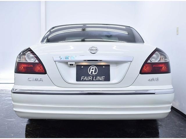 日産 シーマ 中期450XV黒革サンルーフ新品フルエアロ3連イカリング