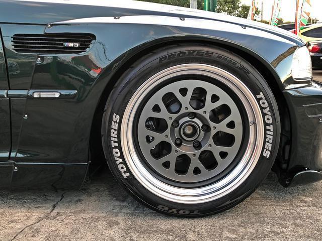 M3 SMGII PANDEM ワイドボディーキット ブレンボキャリパー SACLAMマフラー ARQRAY中間マフラー KITANOフロント・トランクスポイラー オーリンズ車高調 ワーク18インチアルミ HDDナビ(12枚目)