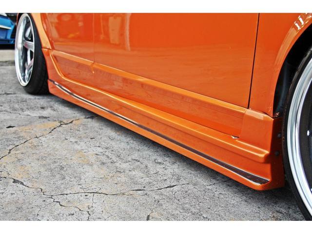 タイプR ACCエアサス公認済 ワンオフF S Rエアロ ワンオフF・Rフェンダー ワンオフウイング 社外ヘッドライト 社外テールランプ 社外ボンネット ワーク19インチアルミ 内装張替 カスタムオーディオ(14枚目)