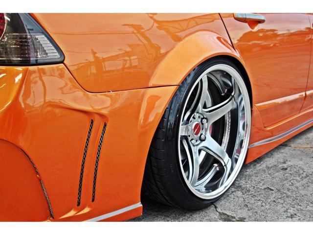 タイプR ACCエアサス公認済 ワンオフF S Rエアロ ワンオフF・Rフェンダー ワンオフウイング 社外ヘッドライト 社外テールランプ 社外ボンネット ワーク19インチアルミ 内装張替 カスタムオーディオ(17枚目)