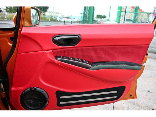タイプR ACCエアサス公認済 ワンオフF S Rエアロ ワンオフF・Rフェンダー ワンオフウイング 社外ヘッドライト 社外テールランプ 社外ボンネット ワーク19インチアルミ 内装張替 カスタムオーディオ(28枚目)