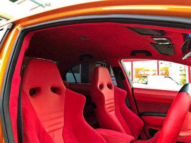 タイプR ACCエアサス公認済 ワンオフF S Rエアロ ワンオフF・Rフェンダー ワンオフウイング 社外ヘッドライト 社外テールランプ 社外ボンネット ワーク19インチアルミ 内装張替 カスタムオーディオ(45枚目)