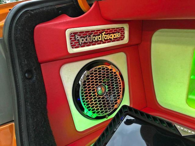 タイプR ACCエアサス公認済 ワンオフF S Rエアロ ワンオフF・Rフェンダー ワンオフウイング 社外ヘッドライト 社外テールランプ 社外ボンネット ワーク19インチアルミ 内装張替 カスタムオーディオ(54枚目)