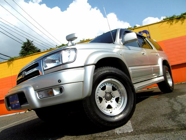 トヨタ ハイラックスサーフ SSR-Xワイド 革調シートカバー社外マフラヒッチメンバSR
