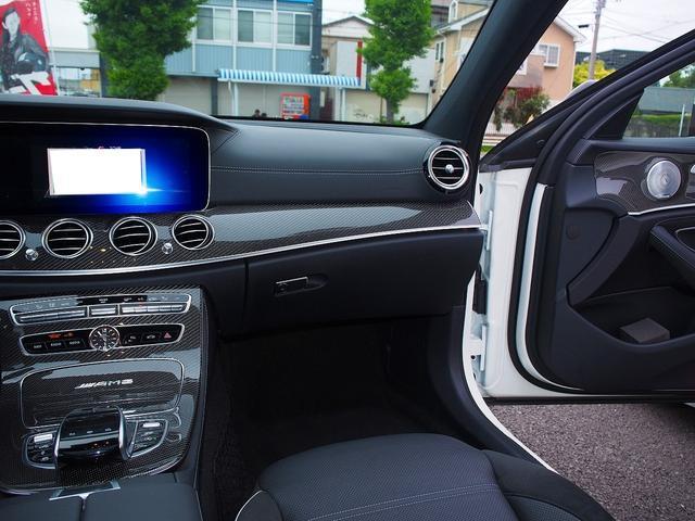 E63 S 4マチック+ AMGカーボンセラミックブレーキ AMGビッグキャリパー AMG専用鍛造20インチホイール フルオプションカーボンボディキット+カーボンインテリア セーフティドライブ オプションフル 保証書取説(36枚目)