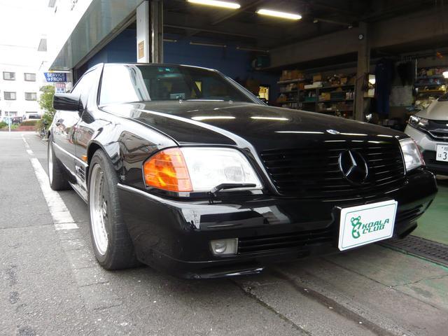 店主はメルセデスディーラーに勤めていたこともあり、輸入車、特にメルセデスの販売・整備に積極的です。
