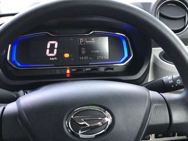 デジタルメーターで運転手の疲れを軽減。