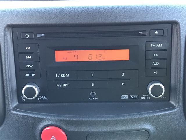CDステレオが標準装備。