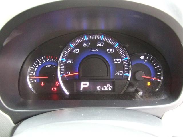 綺麗な自発光タイプのスピードメーターは昼間でも見やすいです