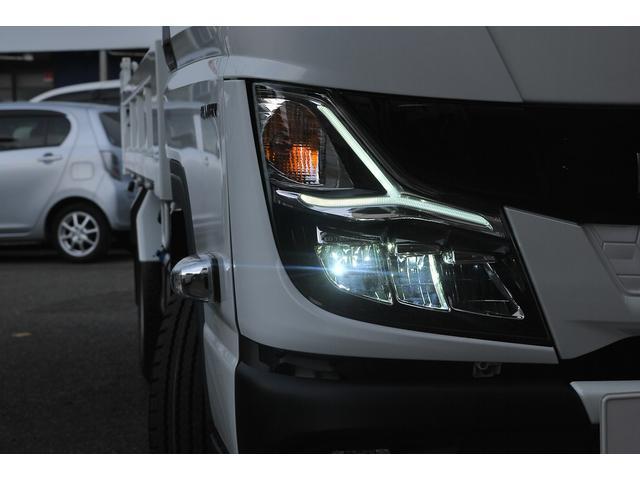 新型 3t強化ダンプ 全低床 5速MT アクティブサイドガードアシスト 衝突軽減ブレーキ 車線逸脱システム スマートキー LEDライト 記録簿(12枚目)