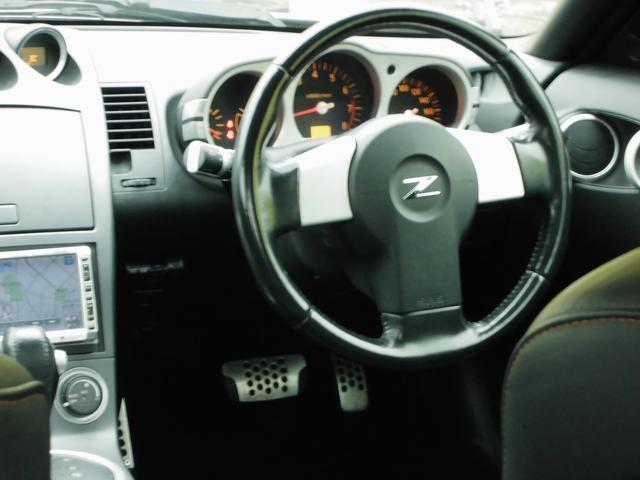 日産 フェアレディZ バージョンT 電動黒本革シート 社外HDDナビ 社外マフラー