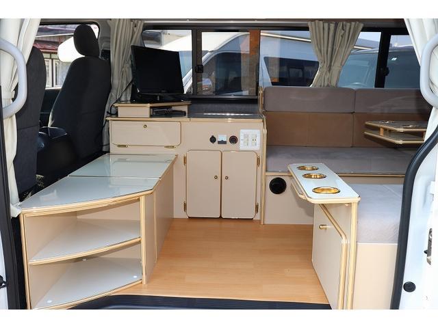 GL か―いんてりあ高橋製 リラックスワゴン タイプI シンク 冷蔵庫 べバスト製FFヒーター テレビ 地デジ マックスファン ツインサブ インバーター エアロ 網戸3枚 二段ベット ナビ Bカメラ ETC(16枚目)