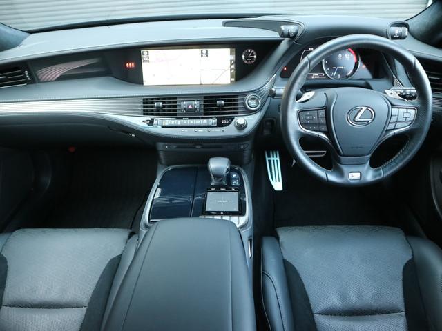 LS500 Fスポーツ 4WD ワンオーナー モデリスタエアロキット デジタルインナーミラー 寒冷地仕様 前後ドライブレコーダー サンルーフ エアロスタビライジングフィン(8枚目)