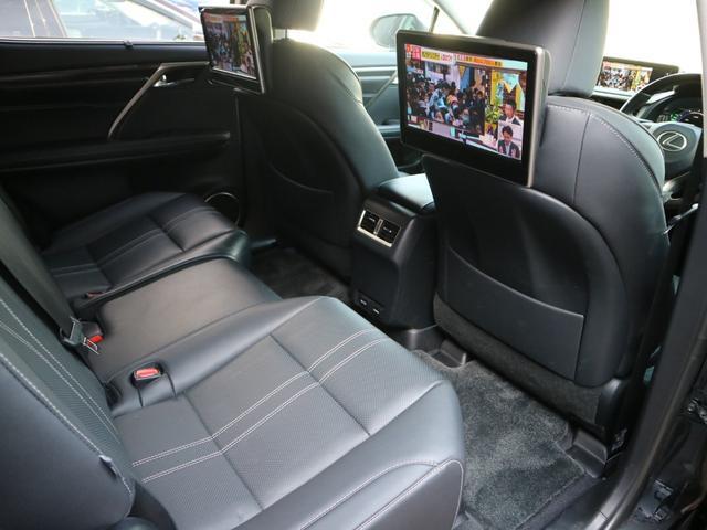 RX450hL 4WD リアエンターテインメント サンルーフ モデリスタフロントサイドエアロ ワンオーナー 三眼LEDヘッドライト パワーバックドア ステアリングヒーター(43枚目)