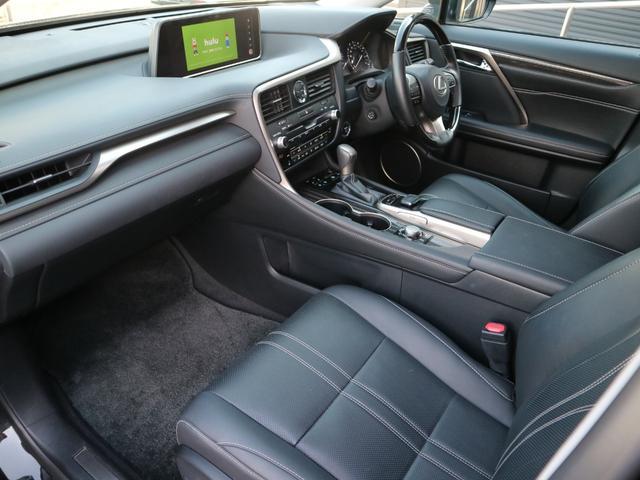 RX450hL 4WD リアエンターテインメント サンルーフ モデリスタフロントサイドエアロ ワンオーナー 三眼LEDヘッドライト パワーバックドア ステアリングヒーター(48枚目)