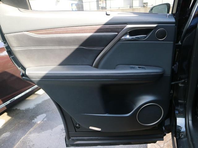 RX450hL 4WD リアエンターテインメント サンルーフ モデリスタフロントサイドエアロ ワンオーナー 三眼LEDヘッドライト パワーバックドア ステアリングヒーター(57枚目)