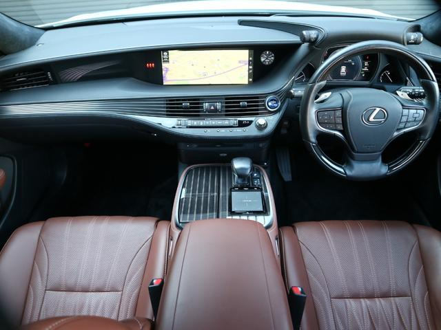 LS500h エグゼクティブ 4WD サンルーフ スパッタリング20インチAW マークレビンソン リアエンターテインメント ドライブレコーダー パワートランク パノラミックビューモニター HUD 三眼LEDヘッドライト AHS(8枚目)