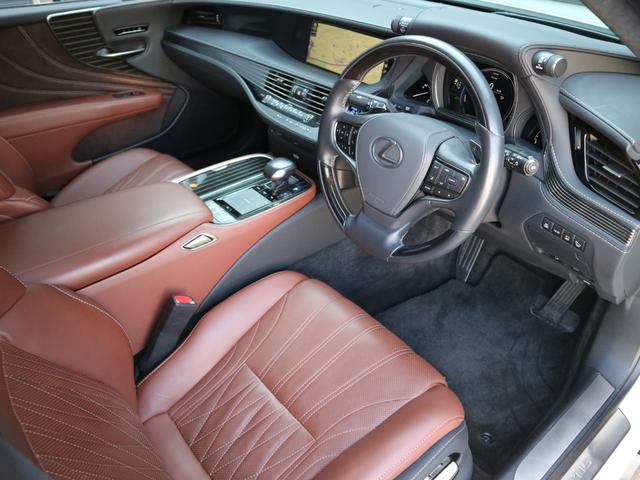 LS500h エグゼクティブ 4WD サンルーフ スパッタリング20インチAW マークレビンソン リアエンターテインメント ドライブレコーダー パワートランク パノラミックビューモニター HUD 三眼LEDヘッドライト AHS(42枚目)