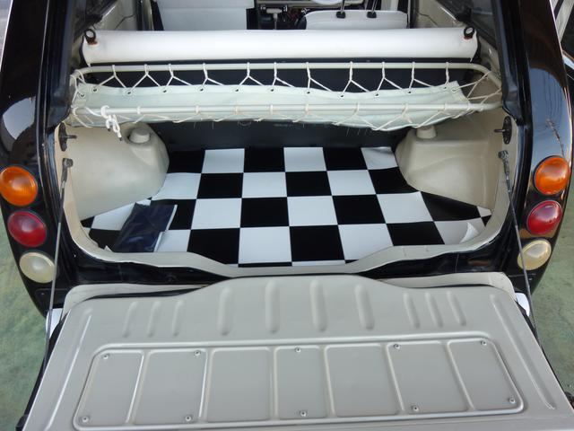 キャンバストップ 内外装レストア済 オーダー白黒シートカバー(14枚目)