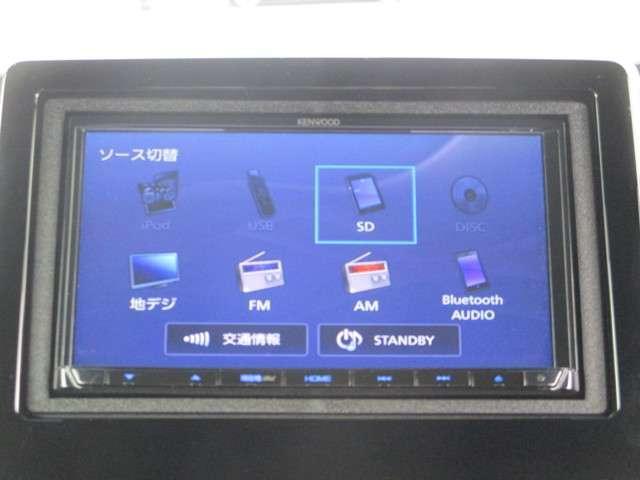 ケンウッドMDV-D504BTナビです。DVD/CD再生のほかフルセグTV、Bluetooth連携機能が装備されとっても便利です!