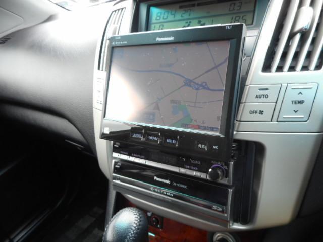 トヨタ ハリアー 240G Lパケ 後期本革社外HDDナビ純正AWシートヒータ