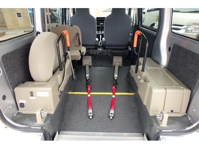 ダイハツ ハイゼットカーゴ 福祉車輌 スロープ 補助席付 8ナンバー車いす移動車