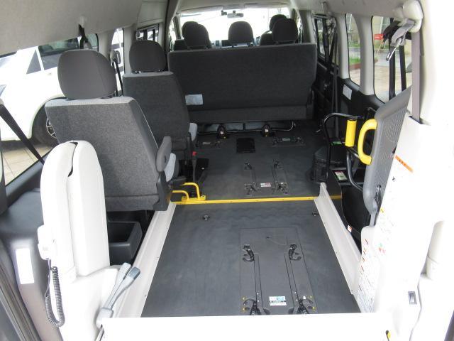 福祉車両 ウェルキャブ リアリフト 9人車いす4基固定 電動固定装置 電動ステップ SDナビ バックカメラ キーレス(38枚目)