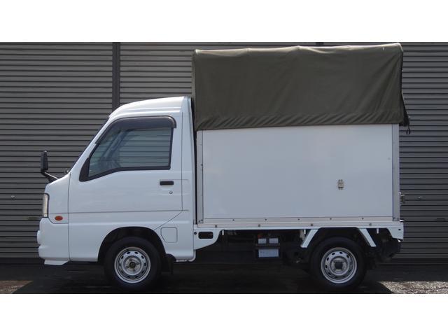 スバル サンバートラック 元赤帽 幌コンテナ 5速マニュアル