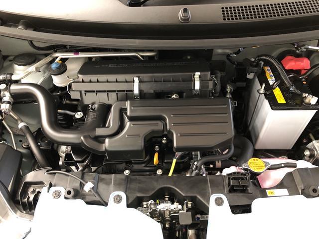 水冷直列3気筒12バルブDOHC・52馬力(カタログ値)・KF型エンジンです