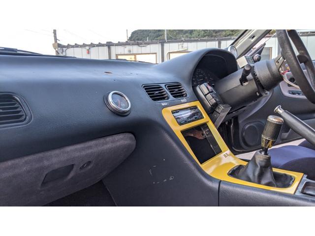 車高調 デフ ワイドフェンダー ロールバー デュアルマフラー 純正エアロ デフィブースト計 強化クラッチ スタンスマジック18インチ S14タービン(10枚目)