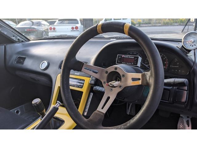 車高調 デフ ワイドフェンダー ロールバー デュアルマフラー 純正エアロ デフィブースト計 強化クラッチ スタンスマジック18インチ S14タービン(20枚目)