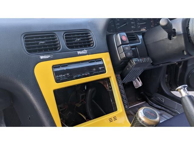 車高調 デフ ワイドフェンダー ロールバー デュアルマフラー 純正エアロ デフィブースト計 強化クラッチ スタンスマジック18インチ S14タービン(23枚目)