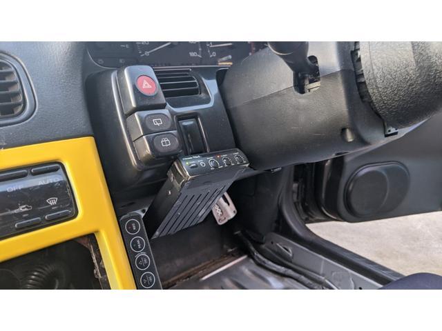 車高調 デフ ワイドフェンダー ロールバー デュアルマフラー 純正エアロ デフィブースト計 強化クラッチ スタンスマジック18インチ S14タービン(24枚目)