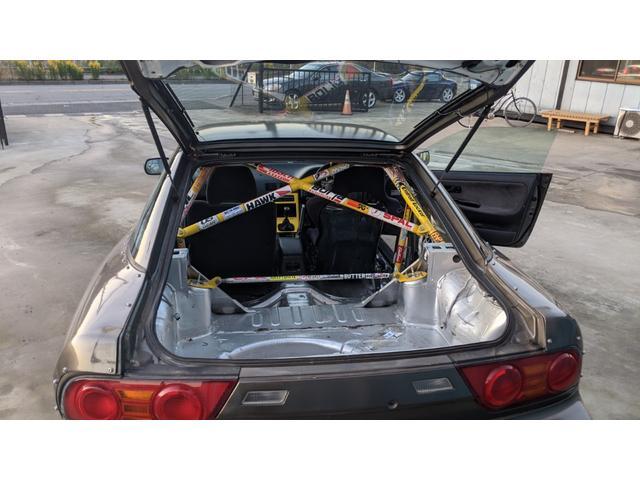 車高調 デフ ワイドフェンダー ロールバー デュアルマフラー 純正エアロ デフィブースト計 強化クラッチ スタンスマジック18インチ S14タービン(30枚目)